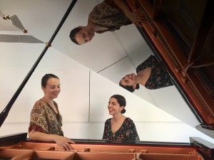 Pamela Beine i Cèlia Margalef. Piano a quatre mans.
